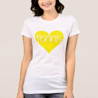 Camiseta del corazón del tenis