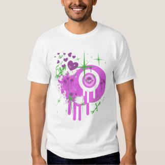 Camiseta del corazón y del chica de las estrellas poleras
