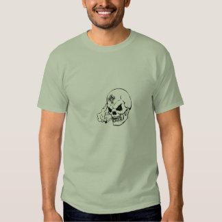 Camiseta del cráneo de DBD que fuma Polera