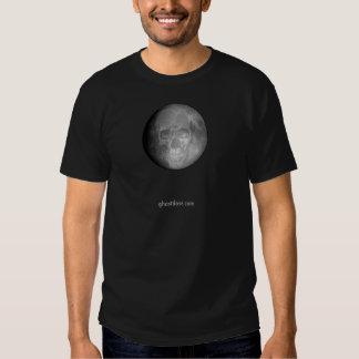Camiseta del cráneo de la luna playera