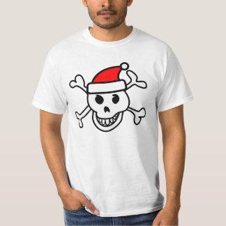 Camiseta del cráneo de Santa Remeras