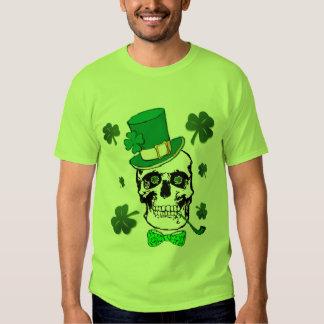 Camiseta del cráneo de St Patrick Playeras