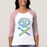 Camiseta del cráneo del arte