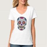 Camiseta del cráneo del azúcar