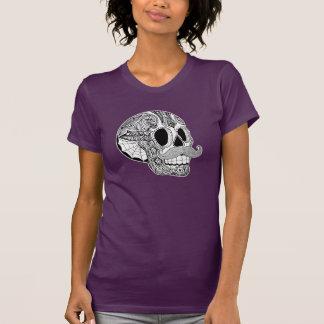 Camiseta del cráneo del azúcar del bigote de las