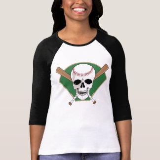 Camiseta del cráneo del béisbol remera