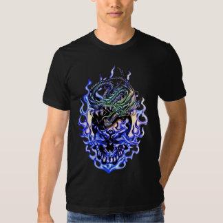 Camiseta del cráneo del dragón playera