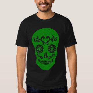 Camiseta del cráneo del Grunge del Partido Verde Playeras
