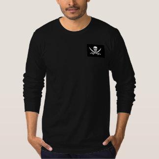 Camiseta del cráneo del pirata de los hombres