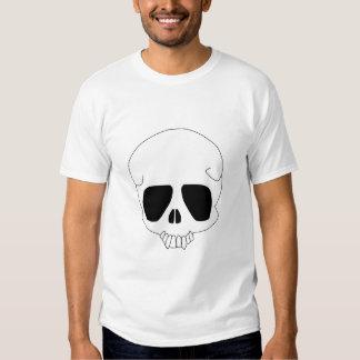 Camiseta del cráneo playera