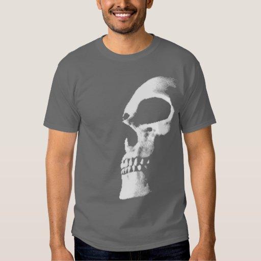 camiseta del cráneo polera