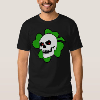 Camiseta del cráneo y del trébol de Debasedtothis Playera