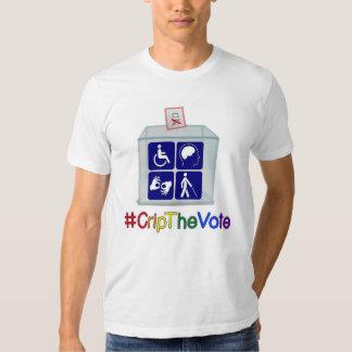 camiseta del #CripTheVote, blanco, para los Playera