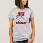 Camiseta del cristiano del combate mano a mano