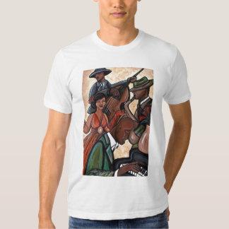 Camiseta del cuarteto del jazz poleras