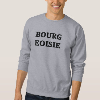 Camiseta del cuello barco de la burguesía sudadera