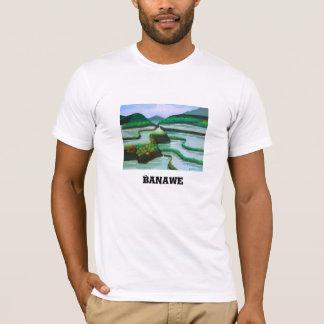 Camiseta del cuello barco de los hombres