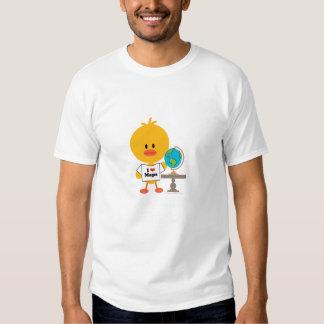 Camiseta del cuello barco del polluelo de la playeras