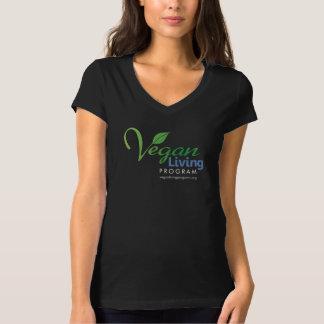 Camiseta del cuello en v de Bella de las mujeres Camisas