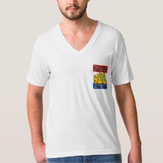 Camiseta del cuello en v de KZAP Poleras