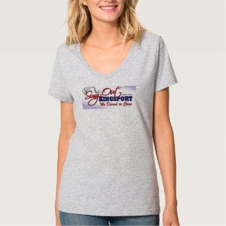 Camiseta del cuello en v de las señoras