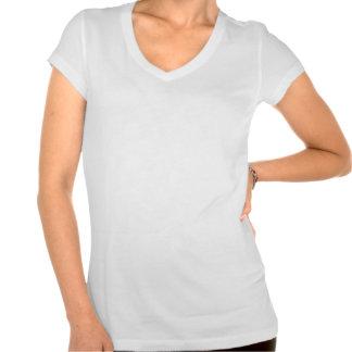 Camiseta del cuello en v de las señoras del mirabe