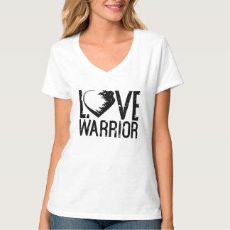 Camiseta del cuello en v del guerrero del amor remera