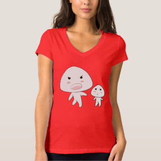 Camiseta del cuello en v del jersey de Bella de