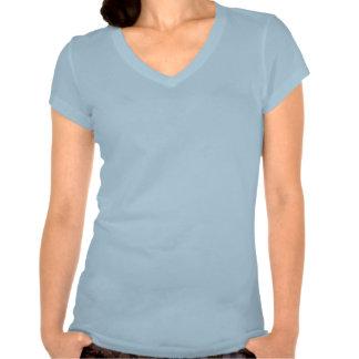 Camiseta del cuello en v del jersey de Bella de la