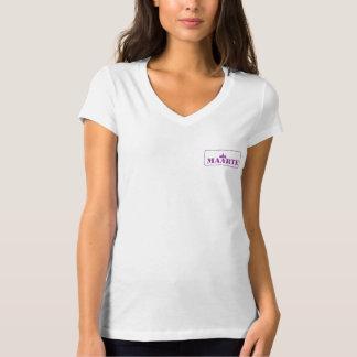 camiseta del cuello en v del jersey de Bella del
