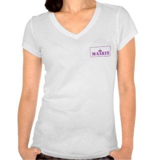 camiseta del cuello en v del jersey de Bella del m