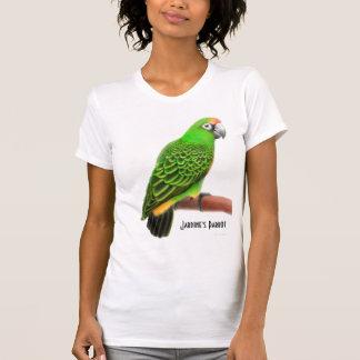 Camiseta del cuello en v del loro de Jardines Playeras