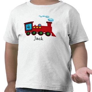 camiseta del cumpleaños de ChooChoo del tren del n
