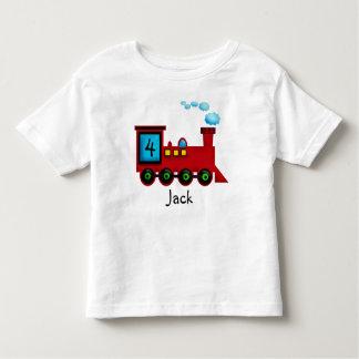 camiseta del cumpleaños de ChooChoo del tren del Playeras