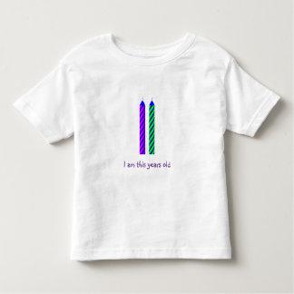 Camiseta del cumpleaños de dos años poleras