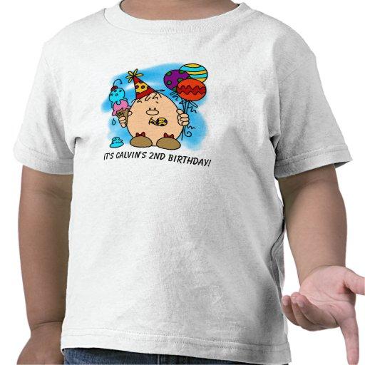 Camiseta del cumpleaños de Eggbert adaptable