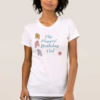 Camiseta del cumpleaños de Floppin del tirón