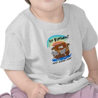 Camiseta del cumpleaños de la arca de Noah persona