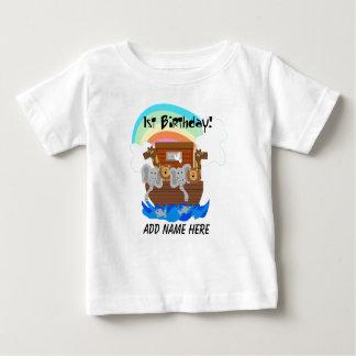 Camiseta del cumpleaños de la arca de Noah Playera
