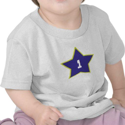 Camiseta del cumpleaños de la estrella del cumplea