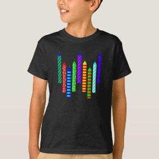 Camiseta del cumpleaños de nueve años - negro