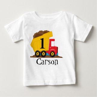 Camiseta del cumpleaños del camión volquete polera