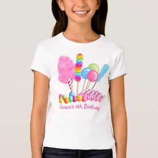 Camiseta del cumpleaños del circo del caramelo remeras