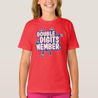 Camiseta del CUMPLEAÑOS del MIEMBRO de los DÍGITOS