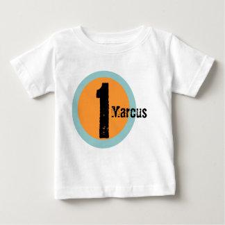Camiseta del cumpleaños del nombre y de la edad playera