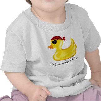 Camiseta del cumpleaños del pato del pirata