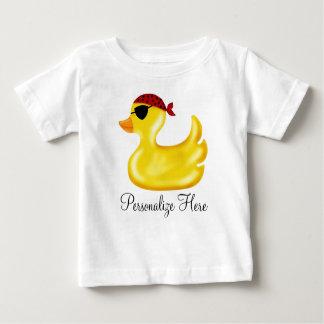 Camiseta del cumpleaños del pato del pirata playeras