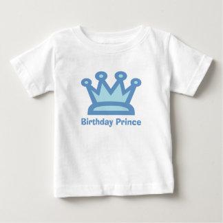 Camiseta del cumpleaños del príncipe bebé del playera
