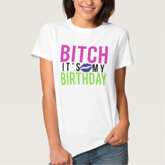 Camiseta del cumpleaños playeras