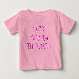 camiseta del cutie playera para bebé